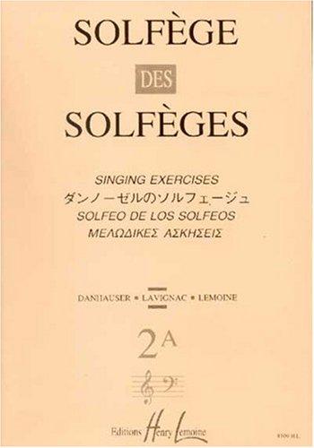 Solfge des Solfges Volume 2A sans accompagnement