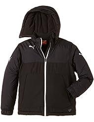 PUMA Jacke Bench Jacket - Chaleco de fútbol para niña, color blanco / negro, talla 12 años (152 cm)