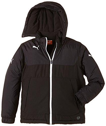 PUMA Kinder Jacke Bench Jacket Mantel, Black-White, 152