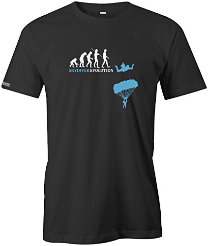 Sport Hobby - Skydiver Evolution - HERREN T-SHIRT in Schwarz by Jayess Gr. M