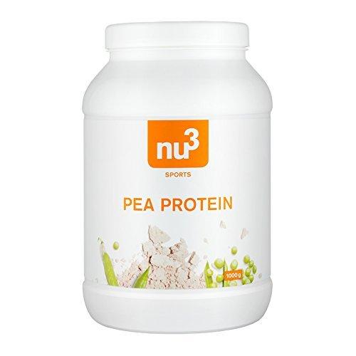 nu3 Erbsen Protein Pulver 800g – 100% Erbsen mit 24 g Eiweiß pro Portion – Vegan Protein Powder, Laktosefrei, Glutenfrei & Hypoallergen – Erbsen Protein Isolat als Alternative zu Whey Protein