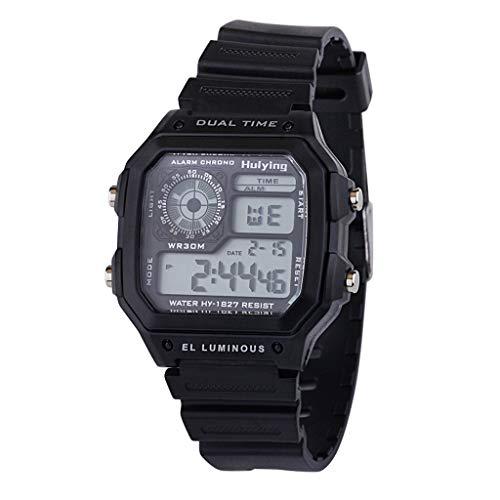 TTLOVE Herren Digitale Armbanduhr, Outdoor Laufen wasserdichte MilitäRische Uhren, Cool Sport Dual Time GroßE Anzeigeelektronische Uhr PersöNlichkeit Led Sportuhr Mit Wecker