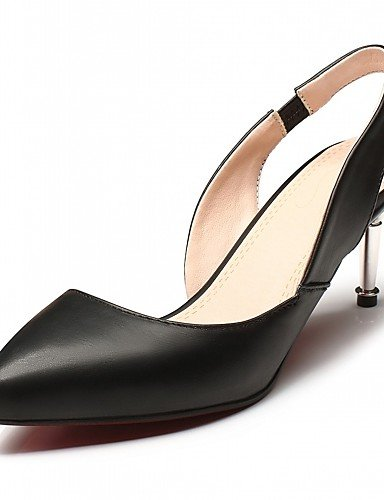 WSS 2016 Chaussures Femme-Extérieure / Bureau & Travail / Habillé-Noir / Rose / Amande-Talon Aiguille-Talons-Talons-Similicuir almond-us8.5 / eu39 / uk6.5 / cn40
