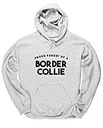 HippoWarehouse a proud parent of a border collie unisex Hoodie hooded top