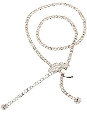 Damara Cadena De Metal Cinturones Con Hoja De Gingko Correa De Cintura Mujeres