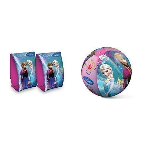 """Schwimmflügel und Wasserball mit \"""" Disneys Frozen \"""" Anna und Elsa"""