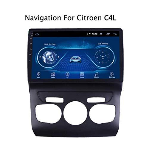 HWENJ GPS-Navigationssystem, Autoradio Für Citroen C4L 2013-2017 Android 8.1 HD 10,1-Zoll-Touchscreen-Haupteinheit GPS-Navigations-Multimedia-Player Mit Einer 1,2-GHz-Quad-Core-CPU