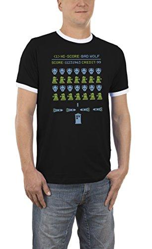 Touchlines Herren T-Shirt Bad Wolf Kontrast Schwarz (Black 13), (Halloween Bad Kostüme Kitty)