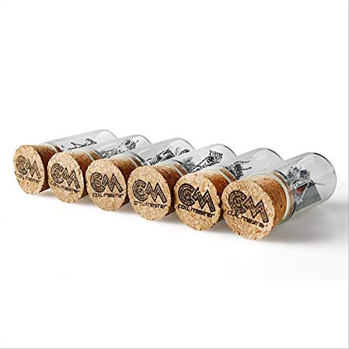 Coil Master Living Art Box, 6x10 prebuild Top-Coils in edler Glas/Holz Optik (Typ: Clapton Coils)