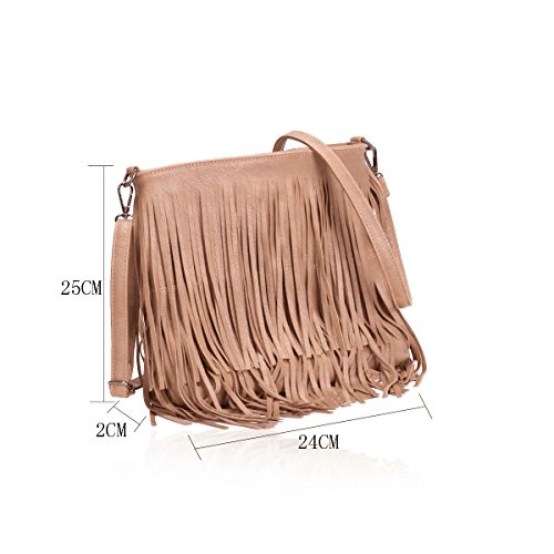 Gessy, Borsa a tracolla donna GN60221Berry 003Dark Pink
