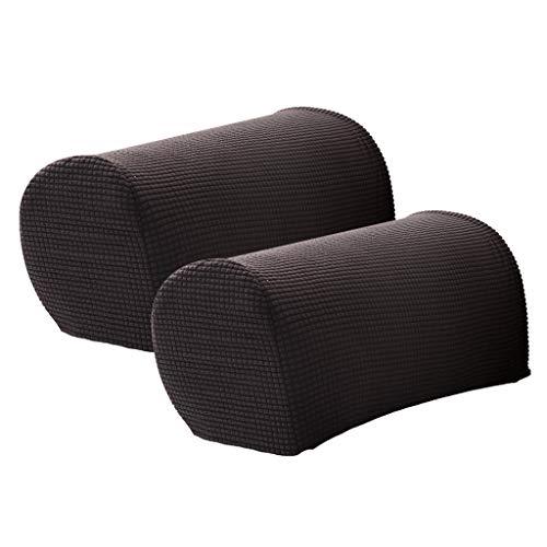 LOVIVER 2 Stü Sofa Armlehnenbezüge Protektoren Weiche Arm Schonbezüge Mit 10 - Schwarz (Stuhl-arm-protektoren)