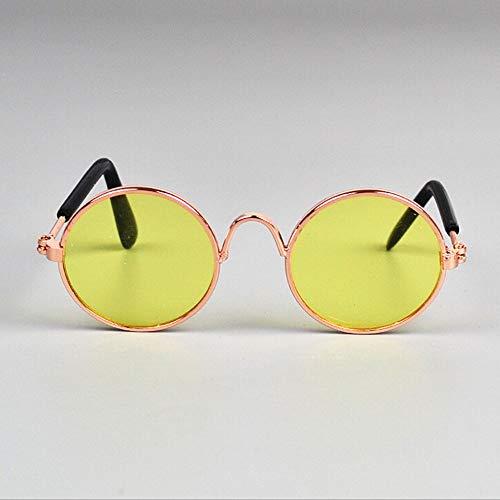 prbll 1 Stücke Heißer Hund Haustier Gläser Für Haustierprodukte Auge tragen Hund Haustier Sonnenbrille Fotos Requisiten Zubehör Heimtierbedarf Katze Gläser, J