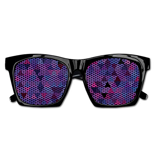 EELKKO Mesh Sunglasses Sports Polarized, Small Triangles Froming An Abstract Mosaic Pattern Geometric Shapes Modern Art,Fun Props Party Favors Gift Unisex