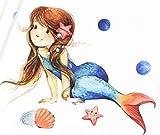 Panel Premium Baumwolle - Sealife Mermaid BioBunt