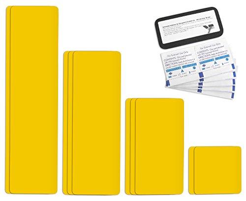Tape selbstklebendes Planen Reparatur Pflaster Set Easy Patch comfort 100mm Breite - 10 Teile - cosmosgelb / rapsgelb RAL 1021
