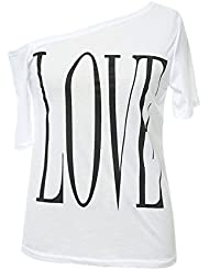 Mena UK De alta calidad verano impresión amor femenino camisetas sin tirantes cobertura suelto chaqueta ( Color : Blanco , Tamaño : M )