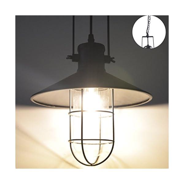 Floodoor Lampada a sospensione 1-Light, Retro industriale ...