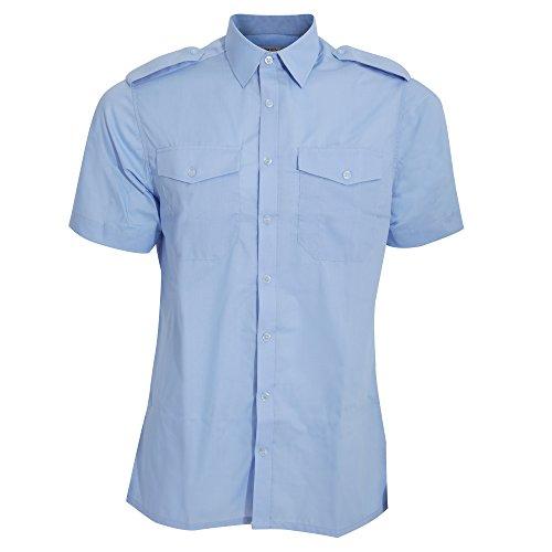 Kustom Kit Camicia a Maniche Corte - Uomo Azzurro