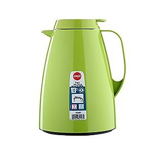 Emsa 508361 Isolierkanne, Thermoskanne, 1l Füllvolumen, Kaffeekanne, Quick Tip Verschluss, Basic in hellgrü