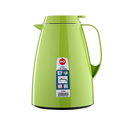 Emsa 508361 Isolierkanne, 1 Liter, Quick Tip Verschluss, 100% dicht,...