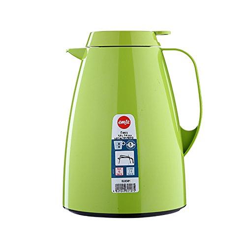 emsa edelstahl thermoskanne Emsa 508361 Isolierkanne, 1 Liter, Quick Tip Verschluss, 100% dicht, Hellgrün, Basic