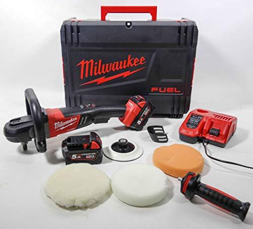 Milwaukee 4933451550-m18fap 180-502X Poliermaschine M18Fuel Bürstenlos, Teller 180mm, 2x M18B5