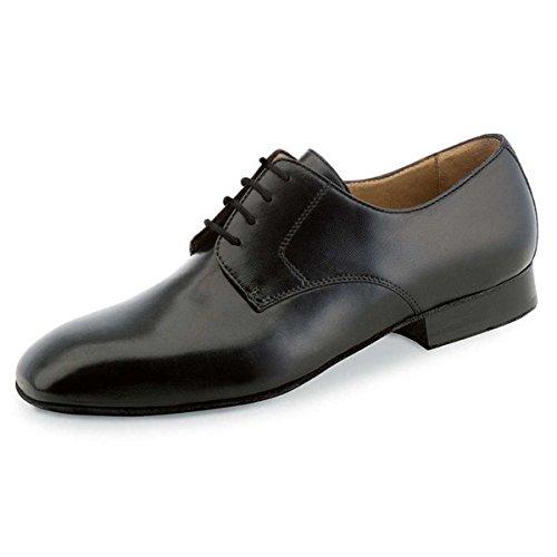 Werner Kern - Herren Tanzschuhe 28013 - Leder Schwarz - für breite Füße [UK 8]