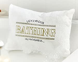 Luxury Bath Pillow, Super Soft for relaxing in the Bath with x2 suction cups
