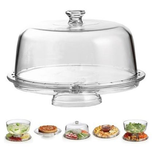 Amazing Cake Stand Multifunctional Cake and Serving Stand 30.4 cm (6 Uses) by Chefs Star® (Sectional-server)