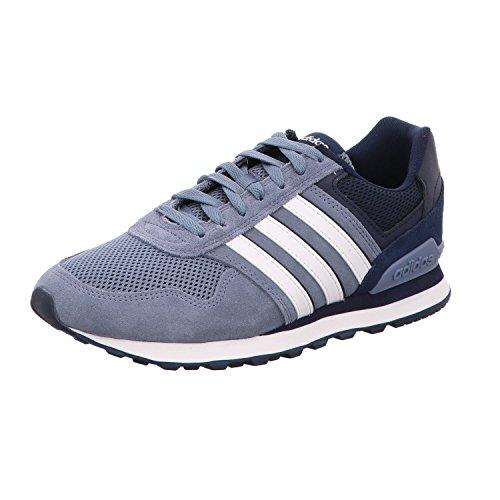 adidas Herren 10K Gymnastikschuhe, Mehrfarbig (Raw Steel S18/Ftwr White/Collegiate Navy Raw Steel S18/Ftwr White/Collegiate Navy), 40 2/3 EU (Herren Schuhe Adidas Tennis)