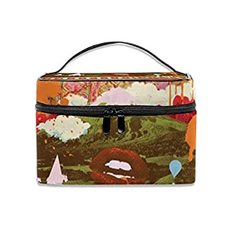 Kosmetiktasche, Make-up Tasche, Morning psychedelia ATD Portable Travel Makeup Bag Cosmetic Organizer Tote Bag for Women Girls