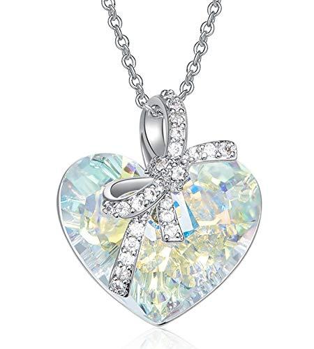 Gnzoe Schmuck Glänzend-Elemente Damen Halskette Herz Form Anhänger -