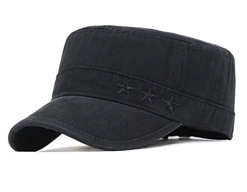 FOOKREN Cap im Military-Stil,Schnell-Trocknend Baseball Sonnen Sport Cap,Mützen für Draussen Sun kappenBase Caps, Mütze NO-22 (Schwarz)