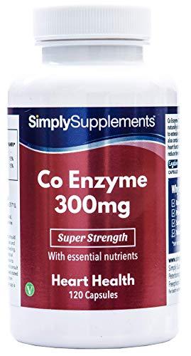 Coenzima Q10 300 mg - 120 capsule - Adatto ai vegani - 4 mesi di trattamento - SimplySupplements