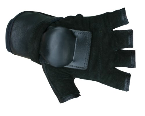 Hillbilly Handgelenk Guard Handschuhe–Half Finger, schwarz