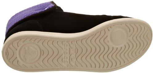 CrocsLo Pro Suede Hi-Top Sneaker - Pantofole a Stivaletto Donna Noir (Black/Ultraviolet)