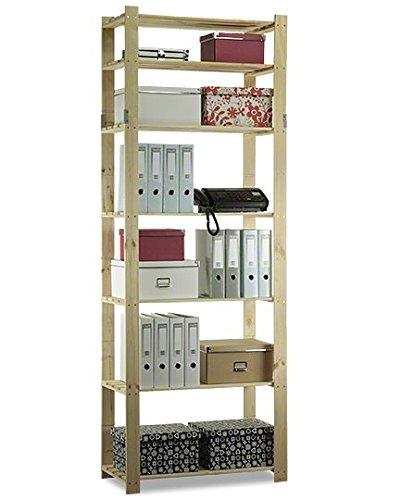 AKTIONSpreis Holzregal Keller- Lager- Bücher- Küchenregal Ständer H. 150-220 cm Serie B (B-30: HxBxT: 220x80x38 cm)