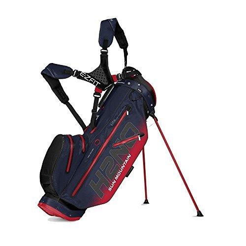 Sun Mountain H2No 14Way Lite Sac de Golf Mixte Adulte, Noir/Marine/Rouge