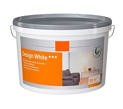 Rühl Farben 5 L Design White Innenfarbe Biala, Weiß, matt