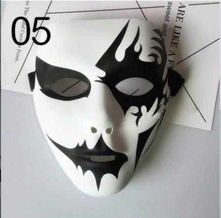 Street Zombie Kostüm - Gysad Halloween Maske Schreckliche Maske Street Dance Maske Werwolf Töten Maske für Halloween Cosplay Karneval Party Siehe Abbildung
