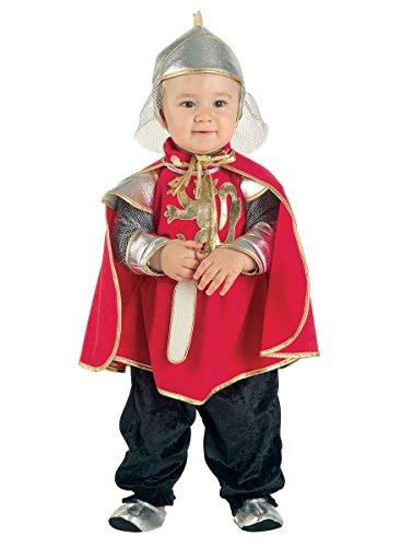 faschingskostuem ritter Premium Ritter-Kostüm für Babys mit Umhang, Kapuze und Füßlinge | Hochwertiges Karnevals-Kostüm / Faschings-Kostüm / Babykostüm | Perfekte Musketier Verkleidung für Karneval, Fasching, Fastnacht (Größe: 92)