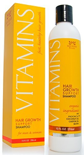 Vitamins Hair Loss Shampoo - 121% Hair Growth and 47% Less Thinning Hair in Clinical Trials- 296ml- With DHT Blockers and Biotin for Fast Regrowth – Best Hair Restoration Product for Men and Women, 2 Month Supply