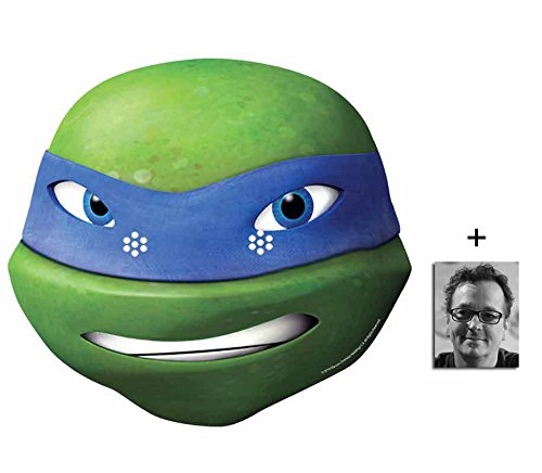 Leonardo Teenage Mutant Ninja Turtles (TMNT 2015) Single Karte Partei Gesichtsmasken (Maske) Enthält 6X4 (15X10Cm) ()