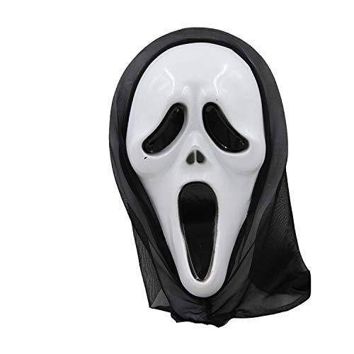 (MIANJU@ Halloween Maske Halloween Horror Maske Teufel Grimasse Head Cover Screaming Lustige Scary Tricky Maske Requisiten)