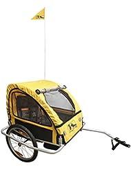 M-Wave ALUMINIUM Remorque pour vélo enfants et bagages Enduit de poudre Argent  60  x  74  x  58  cm