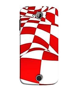 Samken Red Flag Designer Printed Unique Mobile Phone Back Cover Case (3D Protection, Slim Fit, Shock Proof, Hard Plastic, Matte Finish) For Acer Liquid Z530 :: Acer Liquid Zade Z530s