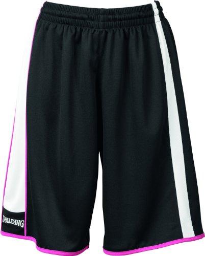 Spalding 4her Short de basketball femme Noir/Blanc/Rose