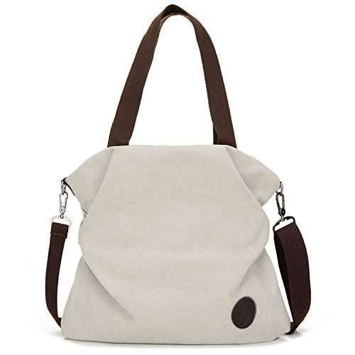 henyangsh Damen Handtasche aus Segeltuch mit Reißverschluss und Schulterriemen, Grün - khaki - Größe: Einheitsgröße