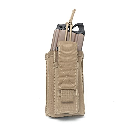 Warrior Single Open M4 & 9mm Mag Pouch Coyote
