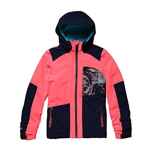 O'Neill Mädchen Kinder Snowboard Jacke Cascade Jacket Girls, neon Tangerine pink, 164 (Snowboard-jacke Kids Für)